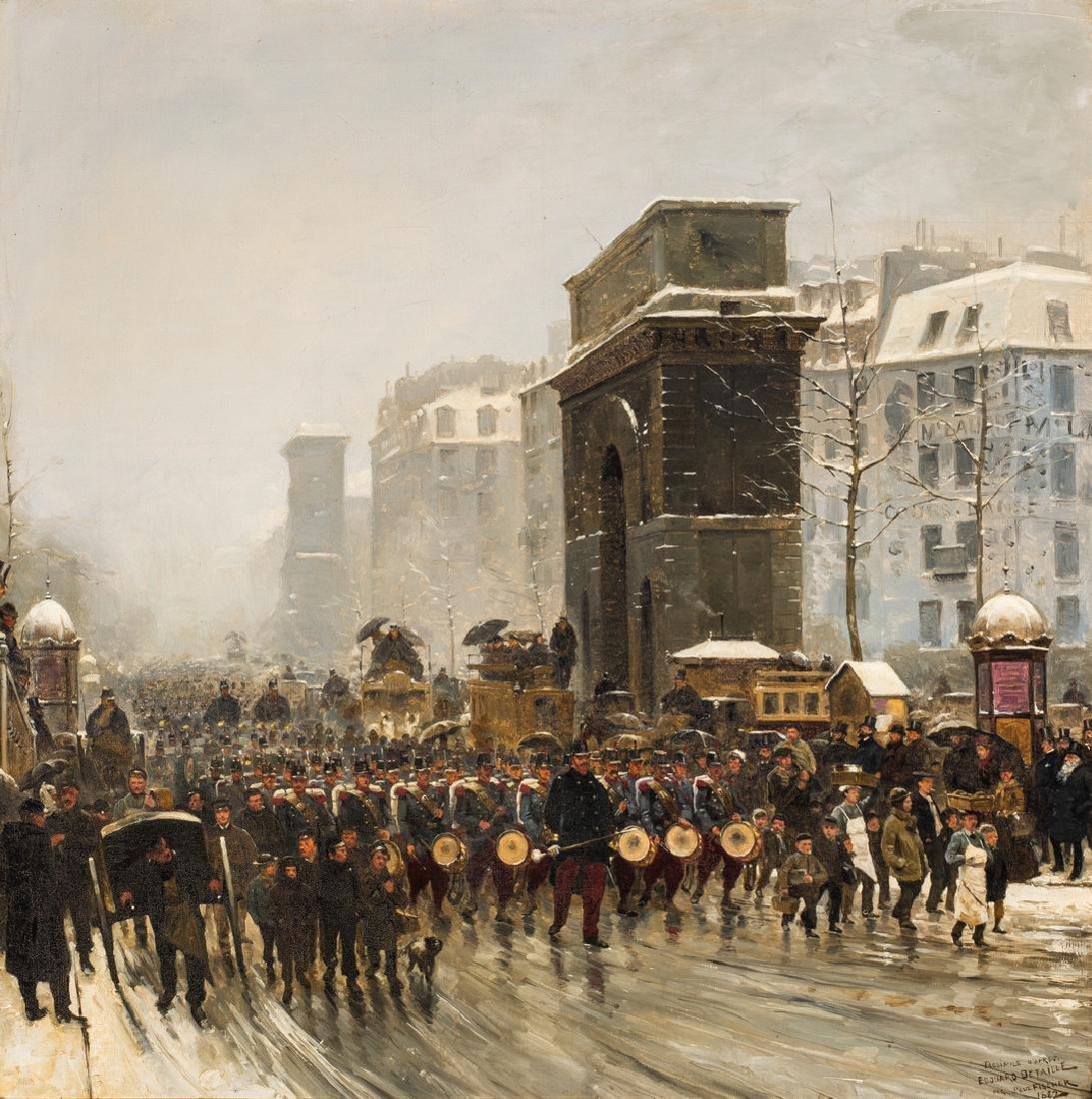 Paul G. Fischer Oil, Military Parade