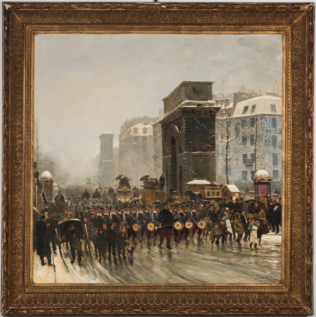 Paul G. Fischer Oil, Military Parade - 2