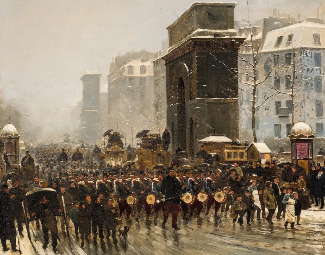 Paul G. Fischer Oil, Military Parade - 3