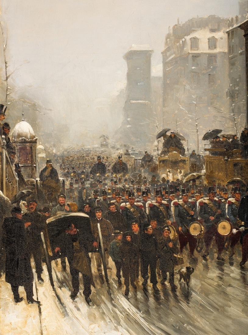 Paul G. Fischer Oil, Military Parade - 6