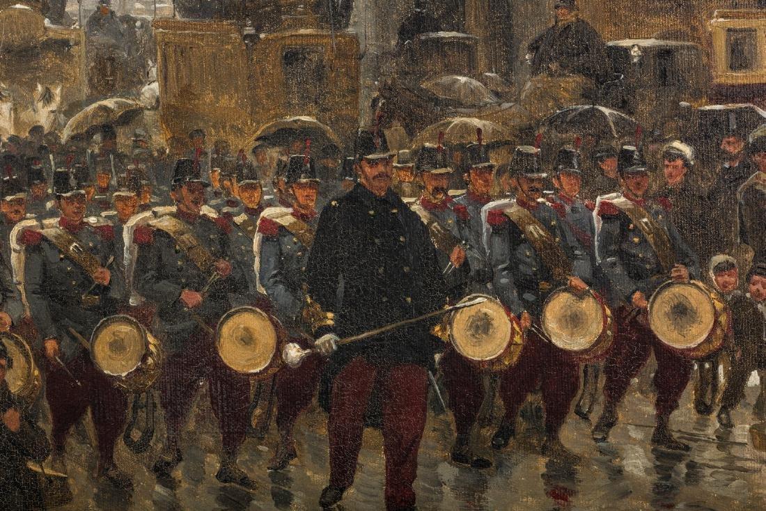 Paul G. Fischer Oil, Military Parade - 9