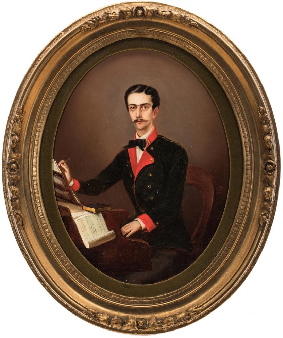 19th C. German Portrait of a Composer
