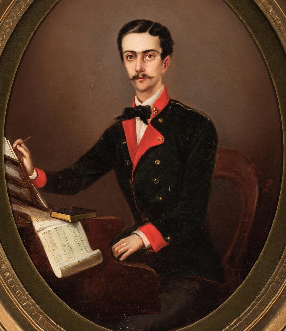 19th C. German Portrait of a Composer - 2