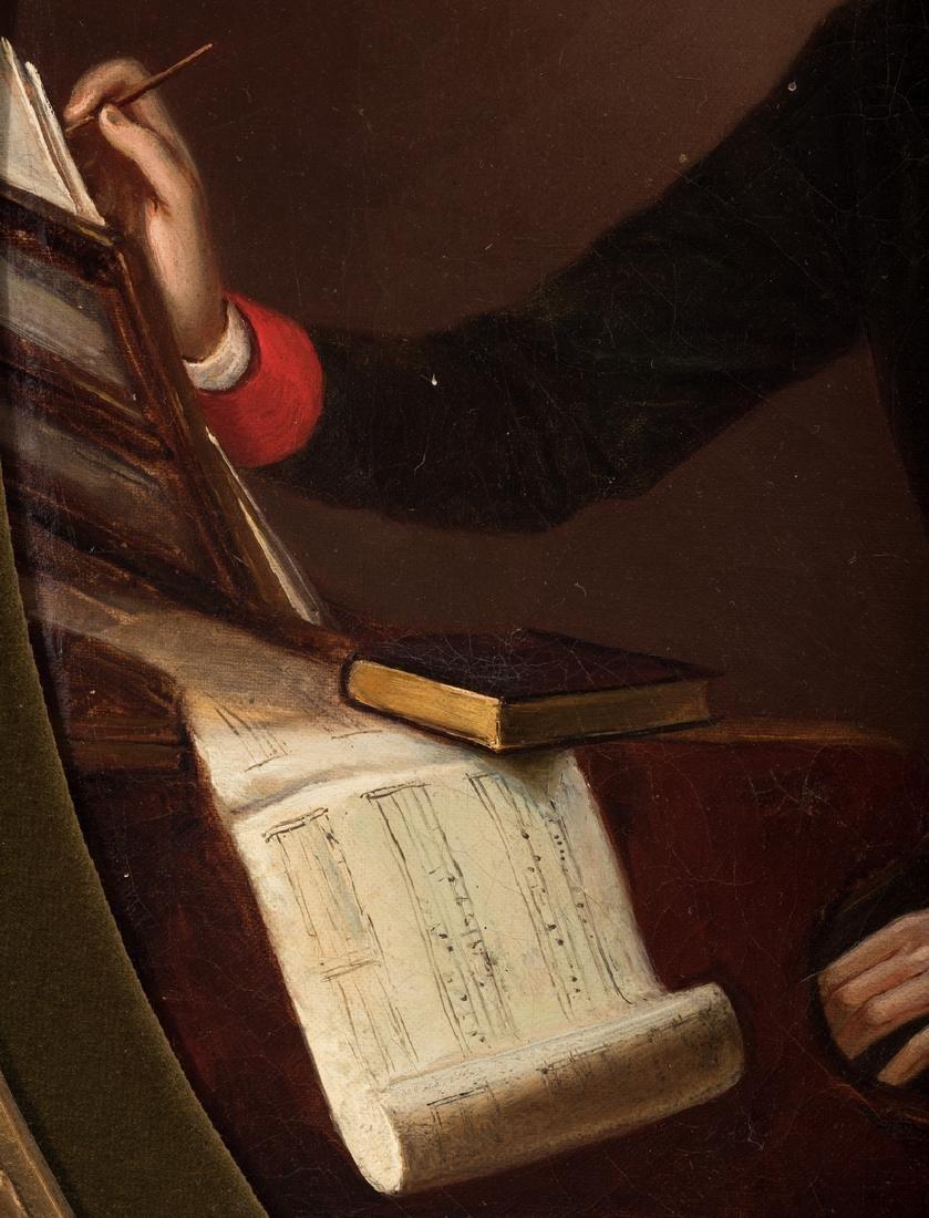 19th C. German Portrait of a Composer - 6