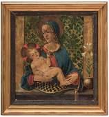 European School O/C, Madonna & Child, V. Cortes