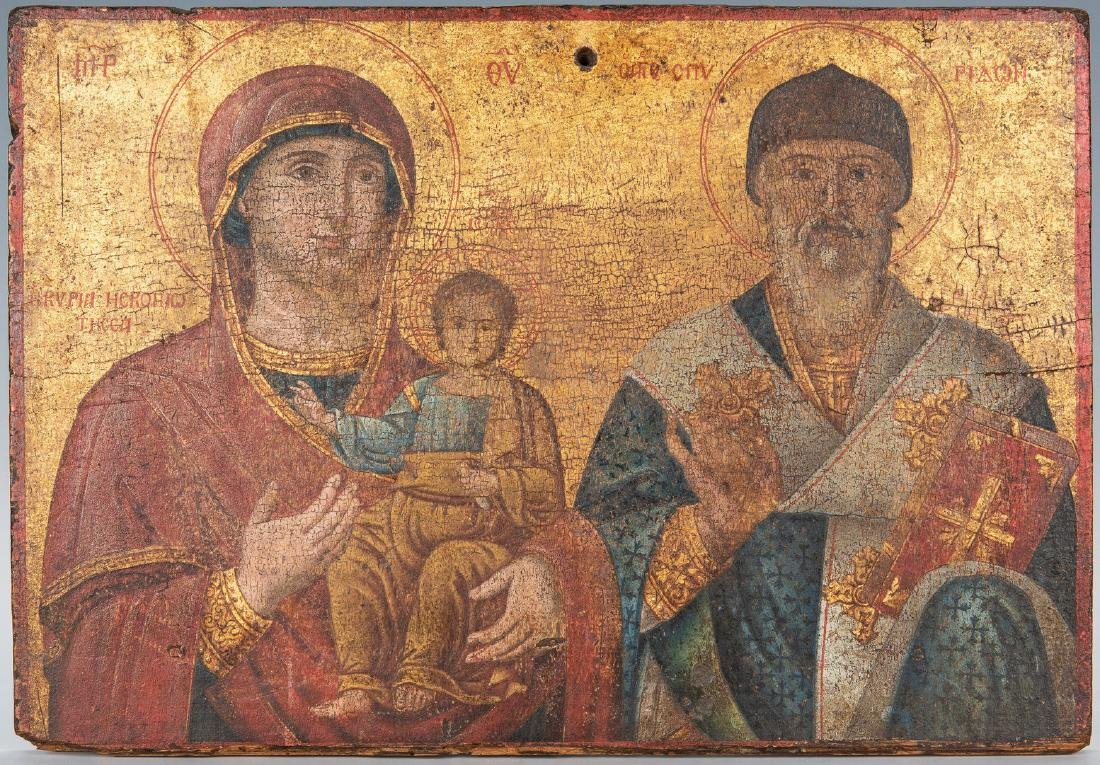Russian Greek Orthodox Icon, tempera on panel