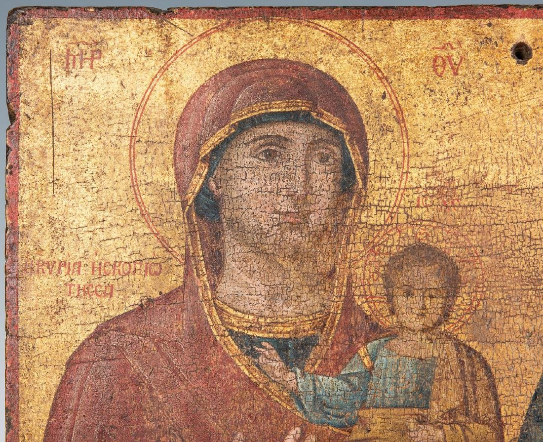 Russian Greek Orthodox Icon, tempera on panel - 2