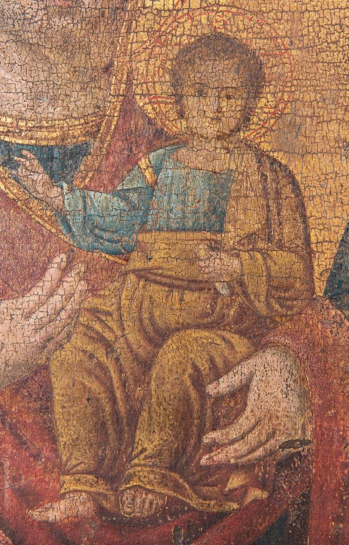 Russian Greek Orthodox Icon, tempera on panel - 3