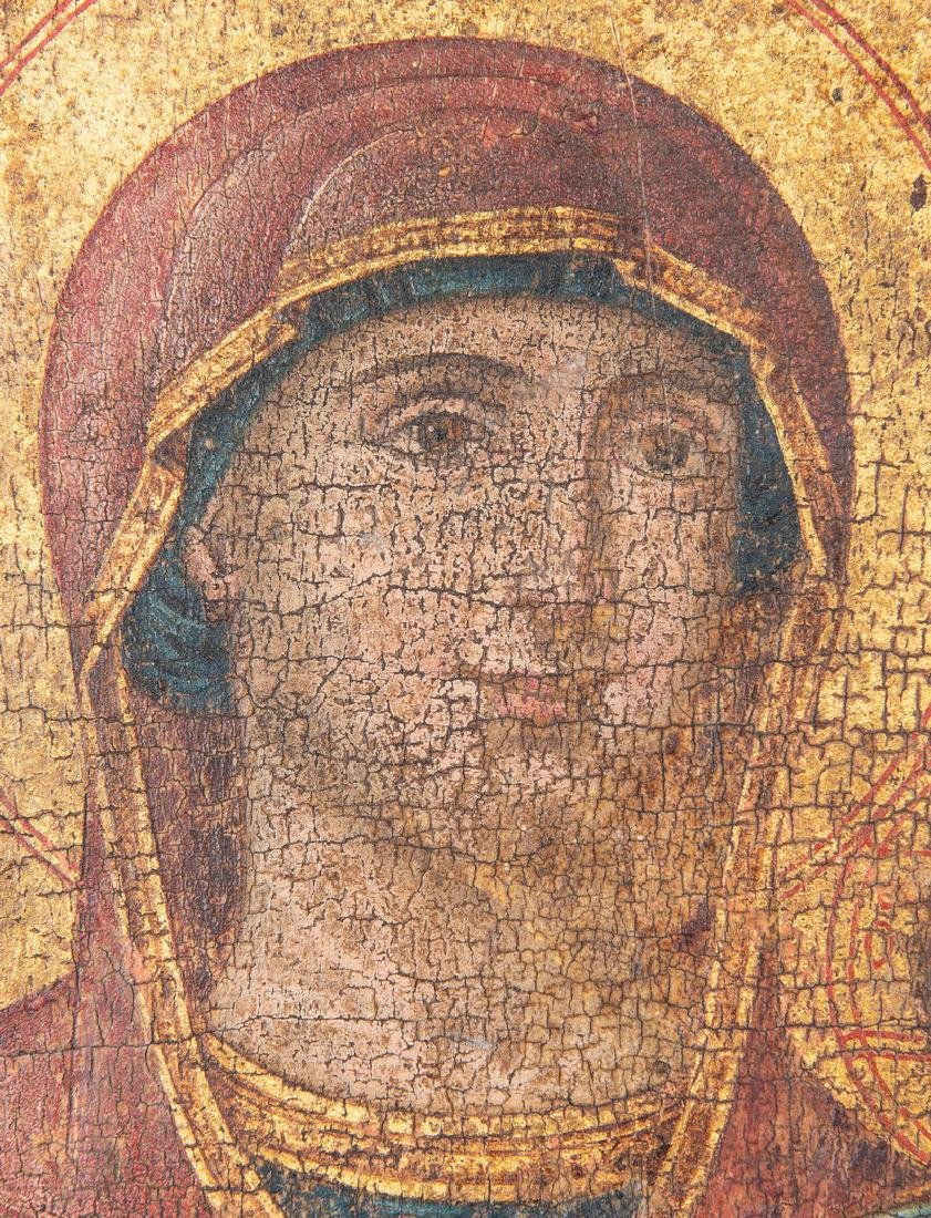 Russian Greek Orthodox Icon, tempera on panel - 4