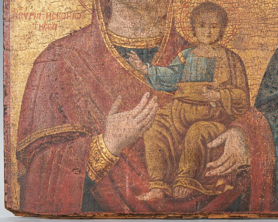 Russian Greek Orthodox Icon, tempera on panel - 5
