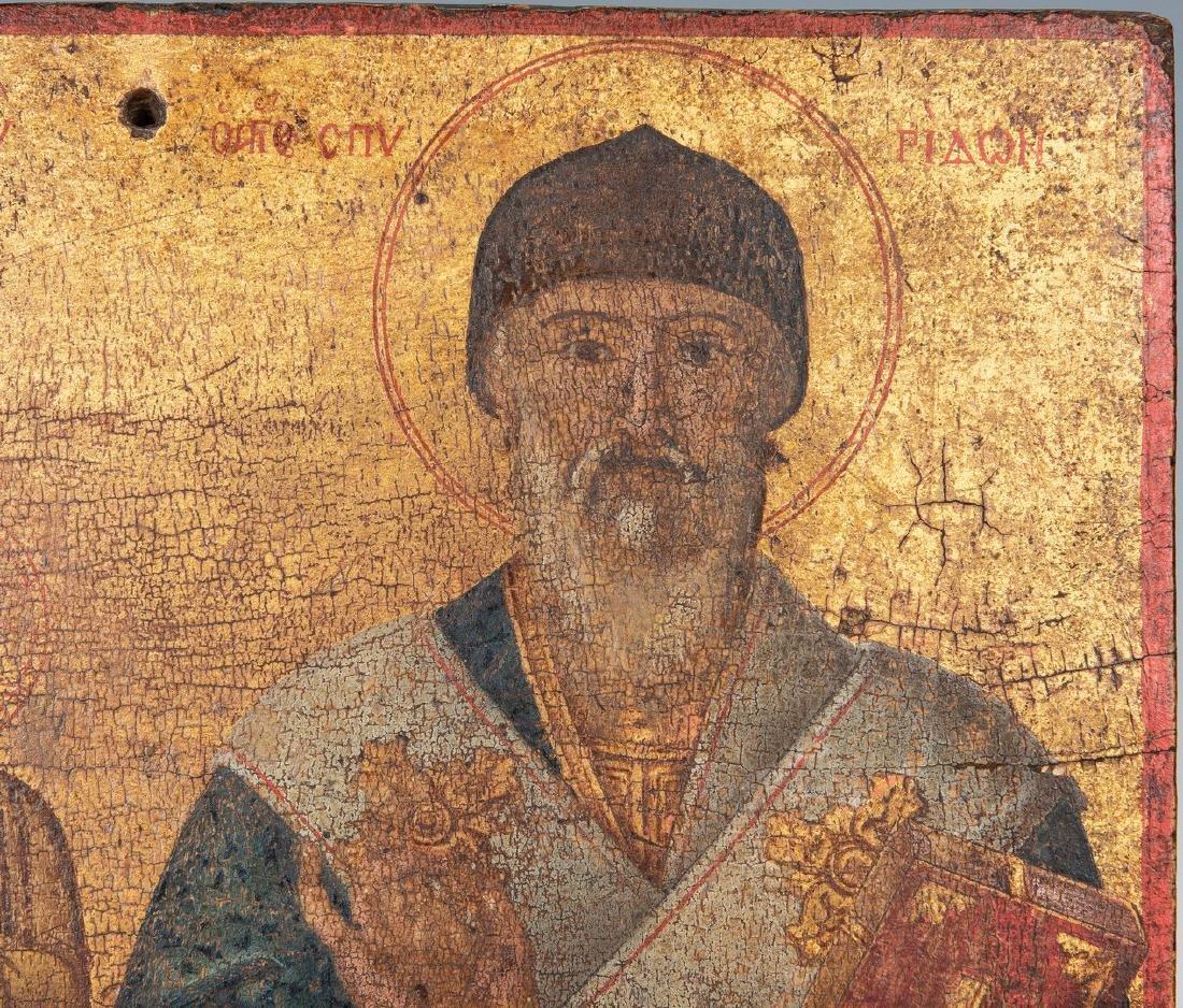 Russian Greek Orthodox Icon, tempera on panel - 6