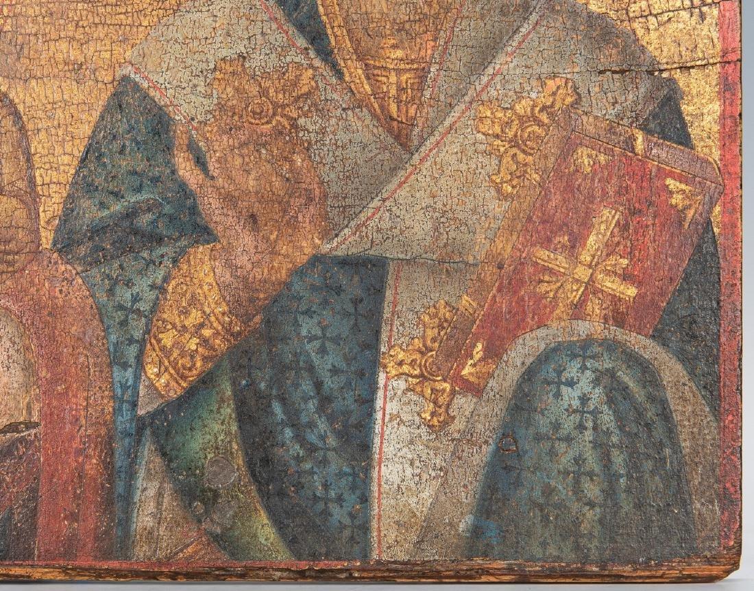 Russian Greek Orthodox Icon, tempera on panel - 7