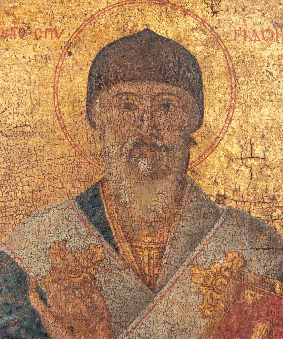 Russian Greek Orthodox Icon, tempera on panel - 8