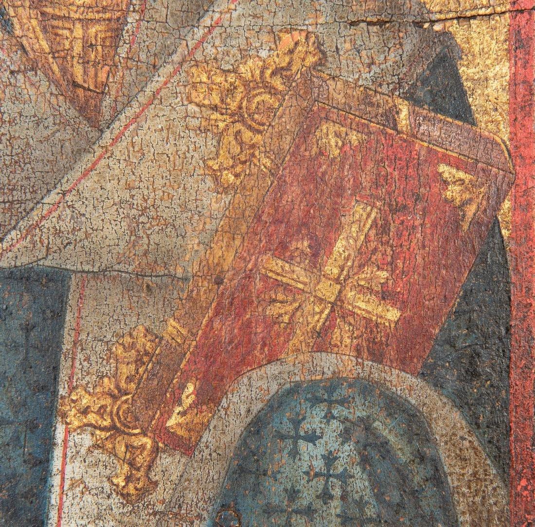 Russian Greek Orthodox Icon, tempera on panel - 9