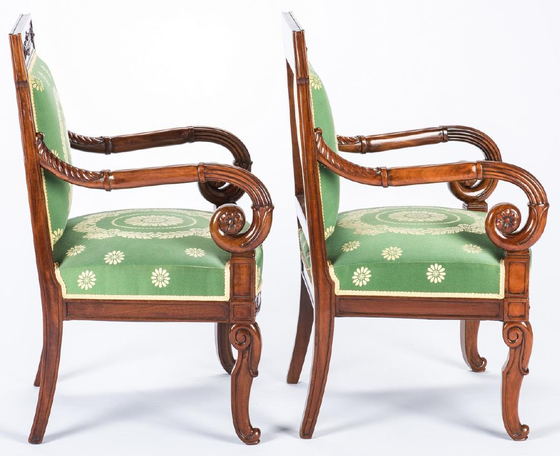 Pair Signed French Neoclassical Arm Chairs, COUDURIER - 4