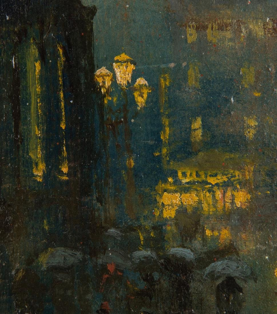 Arthur Diehl Oil on Panel, Cathedral at Night - 7