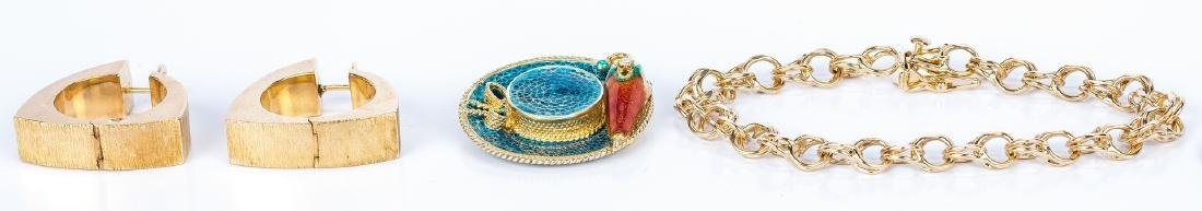3 18K and 14K gold Jewelry Items