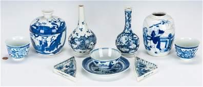 10 Pcs. Chinese Export Blue & White Porcelain