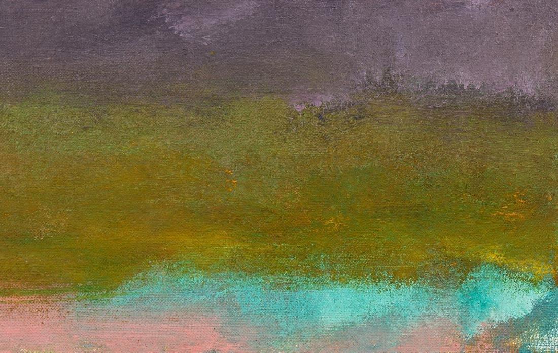 Wolf Kahn Oil on Canvas Landscape, Glow on the Ridge - 10