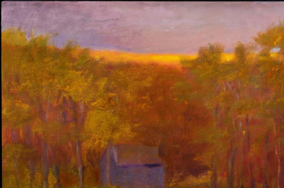 Wolf Kahn Oil on Canvas Landscape, Glow on the Ridge - 3