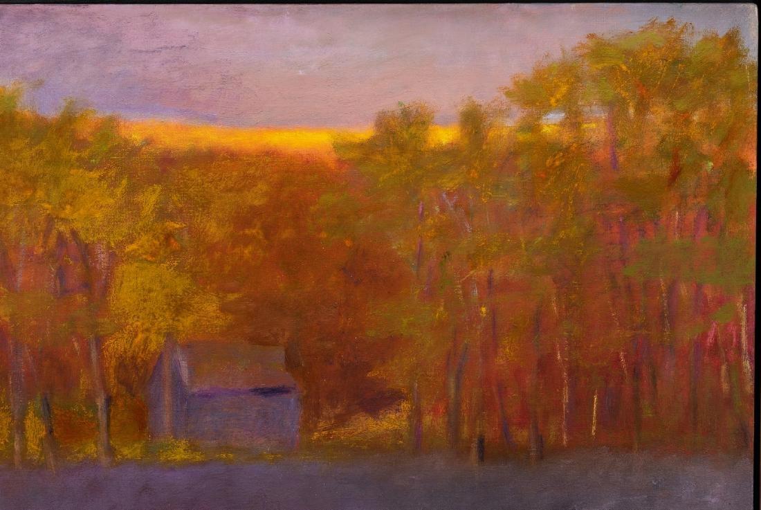 Wolf Kahn Oil on Canvas Landscape, Glow on the Ridge - 4