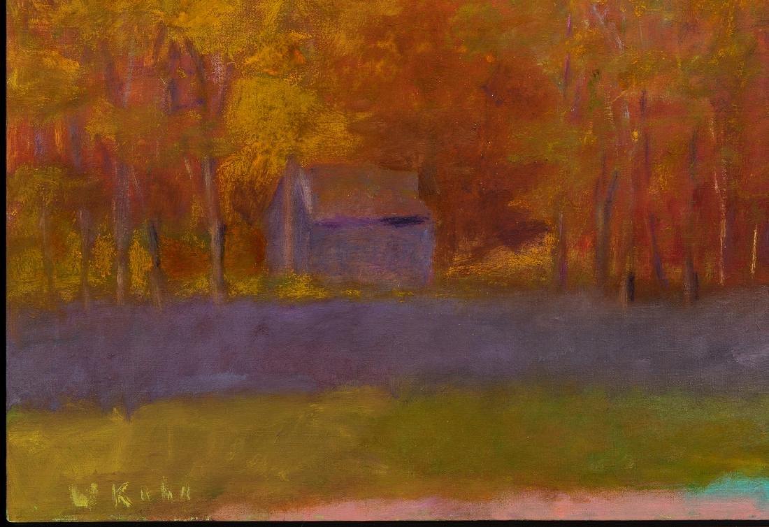 Wolf Kahn Oil on Canvas Landscape, Glow on the Ridge - 5