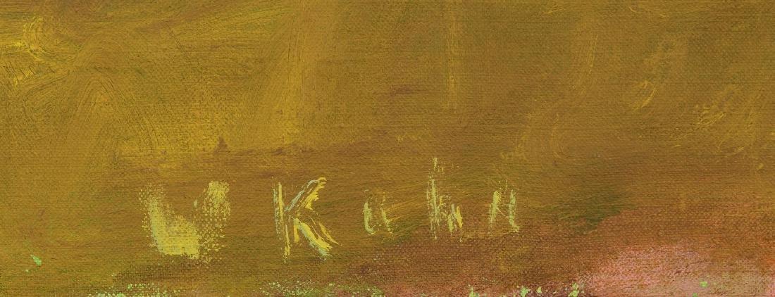 Wolf Kahn Oil on Canvas Landscape, Glow on the Ridge - 7