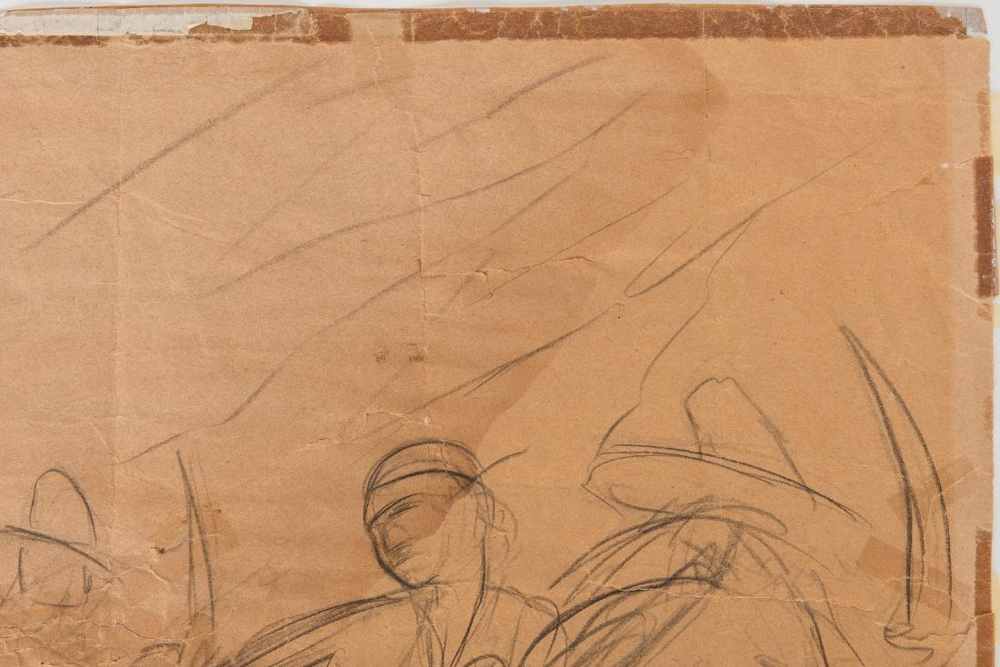 Diego Rivera Drawing, study for a mural - 6