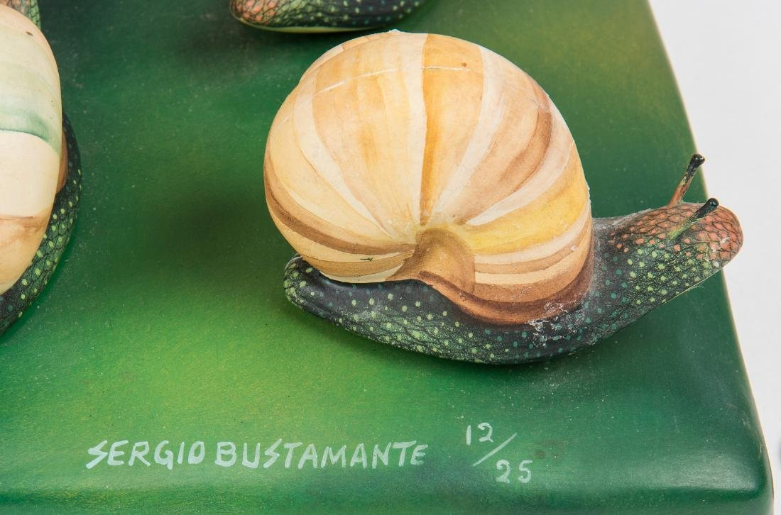 Sergio Bustamante Sculpture, Bust with Snails - 10