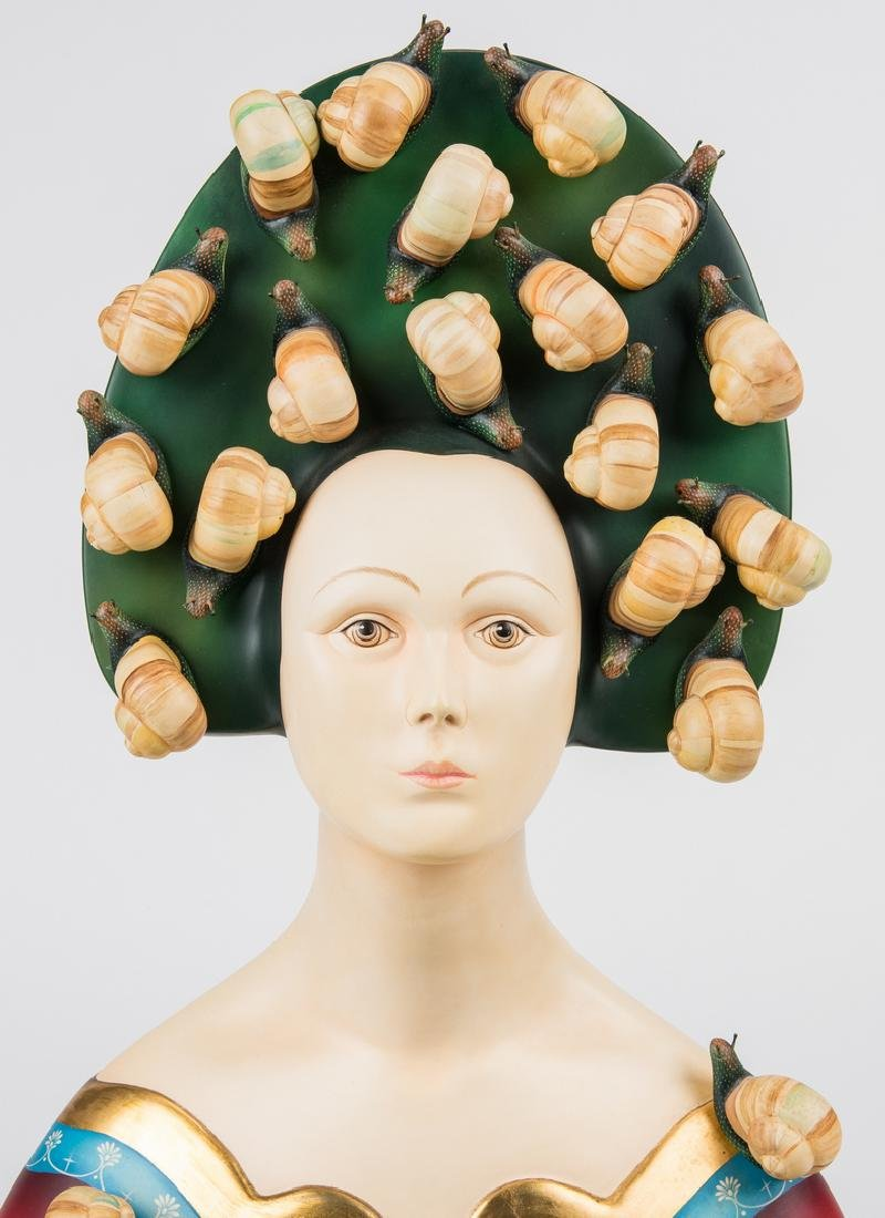 Sergio Bustamante Sculpture, Bust with Snails - 6