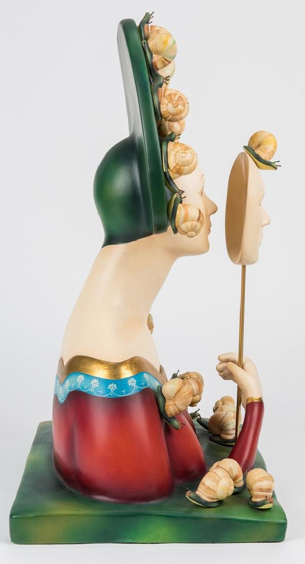 Sergio Bustamante Sculpture, Bust with Snails - 7