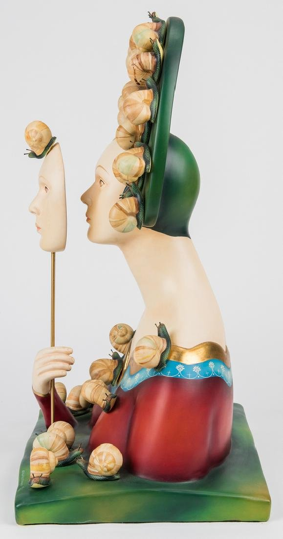 Sergio Bustamante Sculpture, Bust with Snails - 9