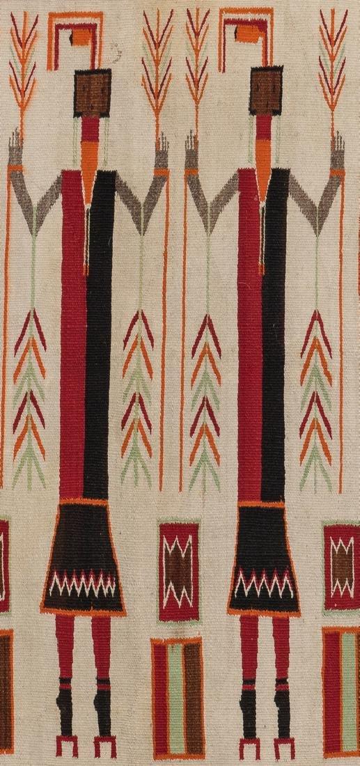 Navajo Yei Rug, 4.4 x 3.5, c. 1920 - 3