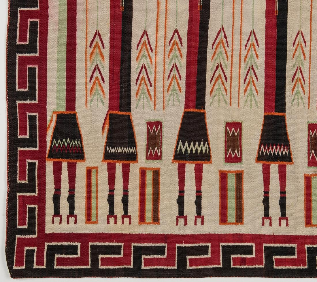 Navajo Yei Rug, 4.4 x 3.5, c. 1920 - 4