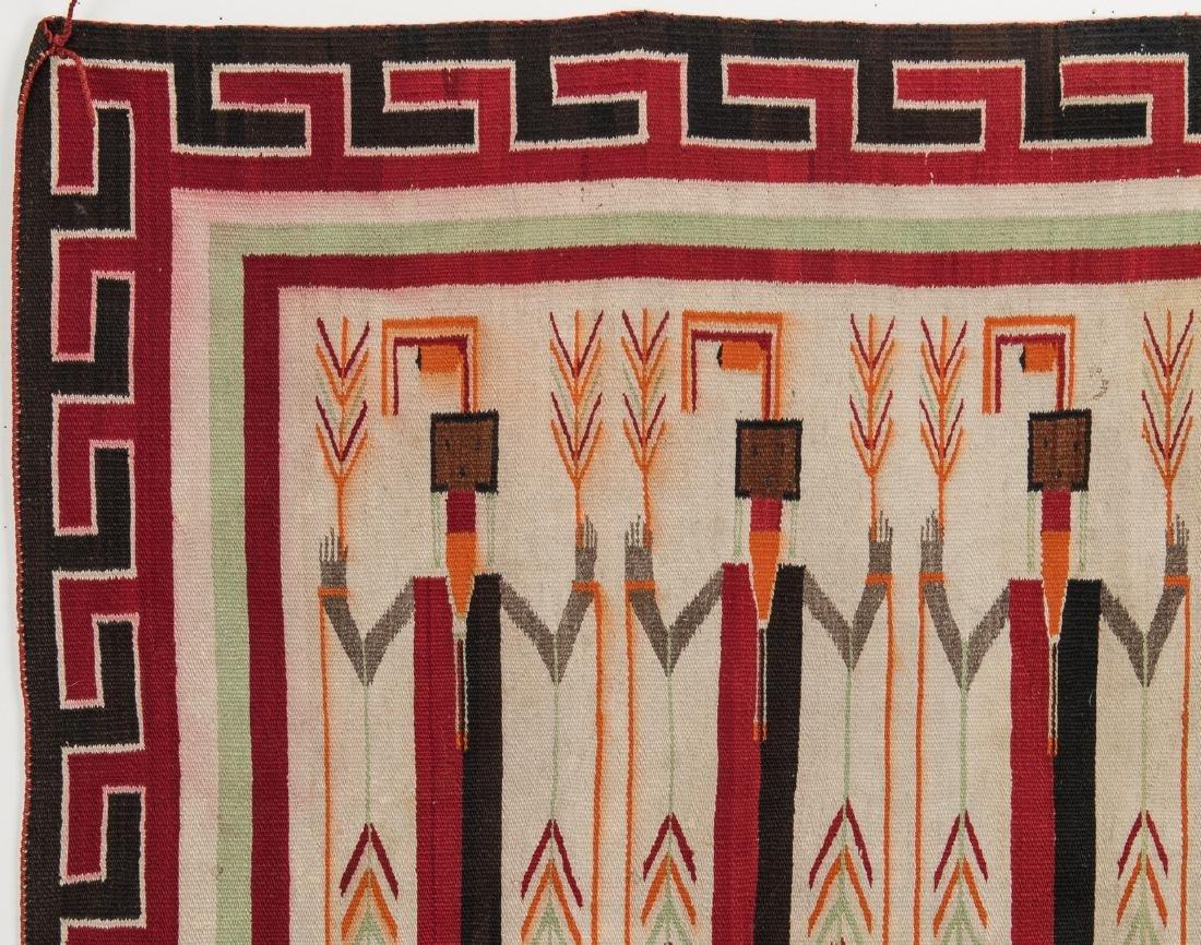 Navajo Yei Rug, 4.4 x 3.5, c. 1920 - 6