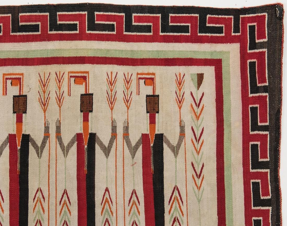 Navajo Yei Rug, 4.4 x 3.5, c. 1920 - 7