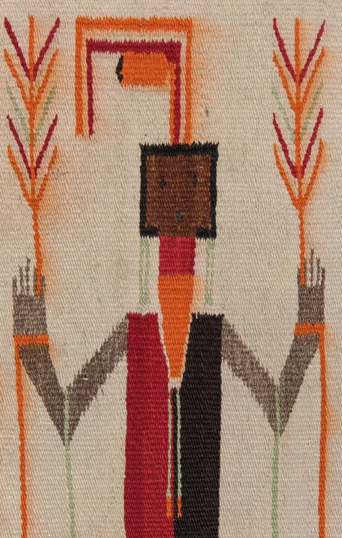 Navajo Yei Rug, 4.4 x 3.5, c. 1920 - 8