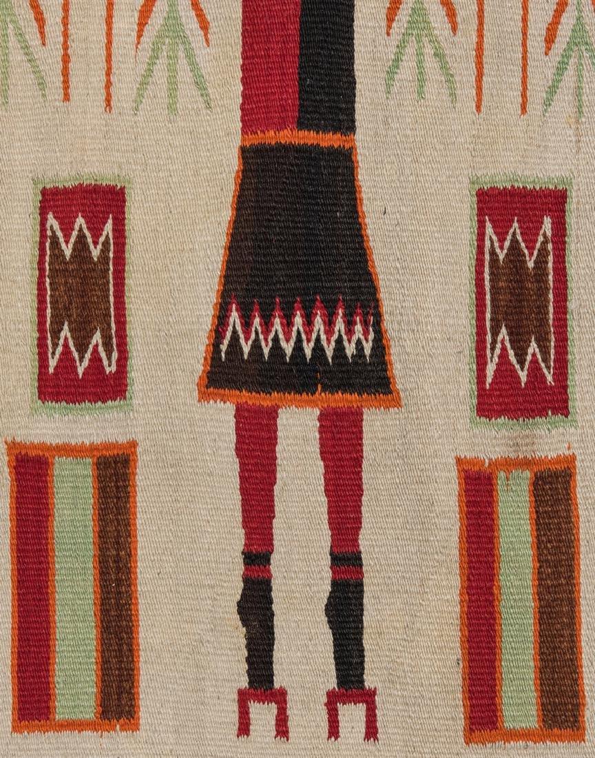 Navajo Yei Rug, 4.4 x 3.5, c. 1920 - 9