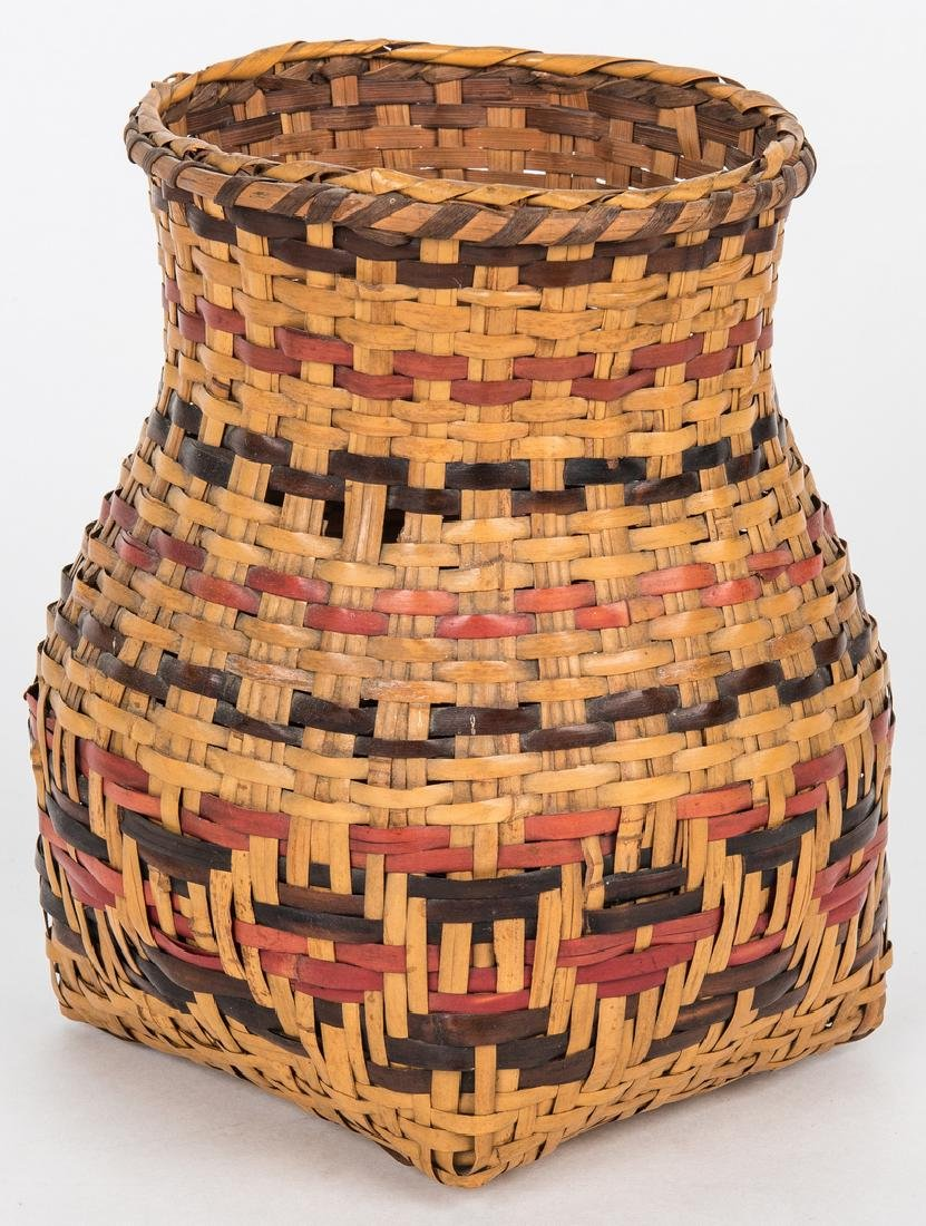 3 Cherokee Rivercane Baskets - 10