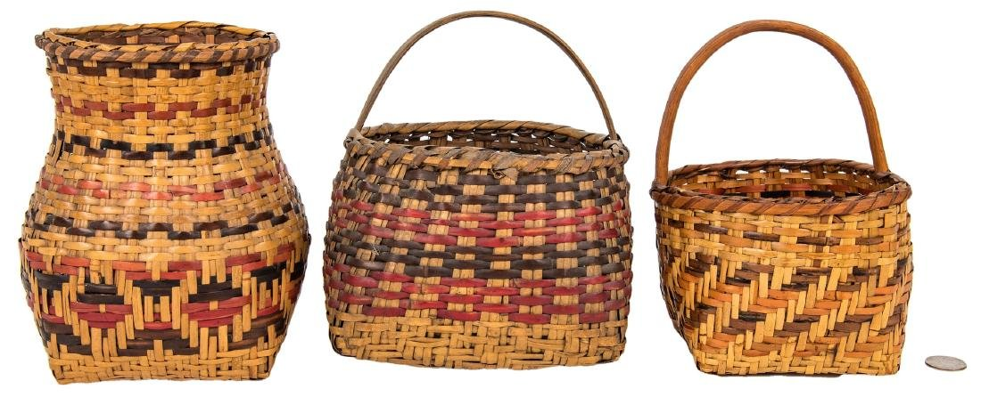 3 Cherokee Rivercane Baskets
