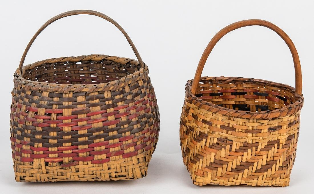 3 Cherokee Rivercane Baskets - 3