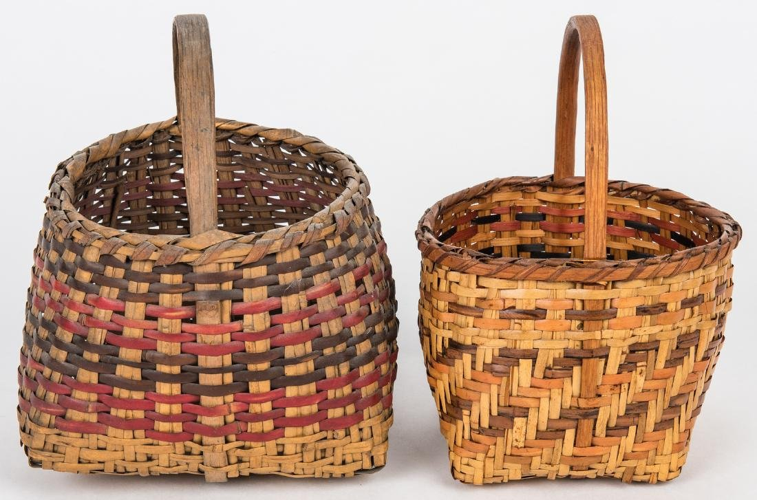 3 Cherokee Rivercane Baskets - 4