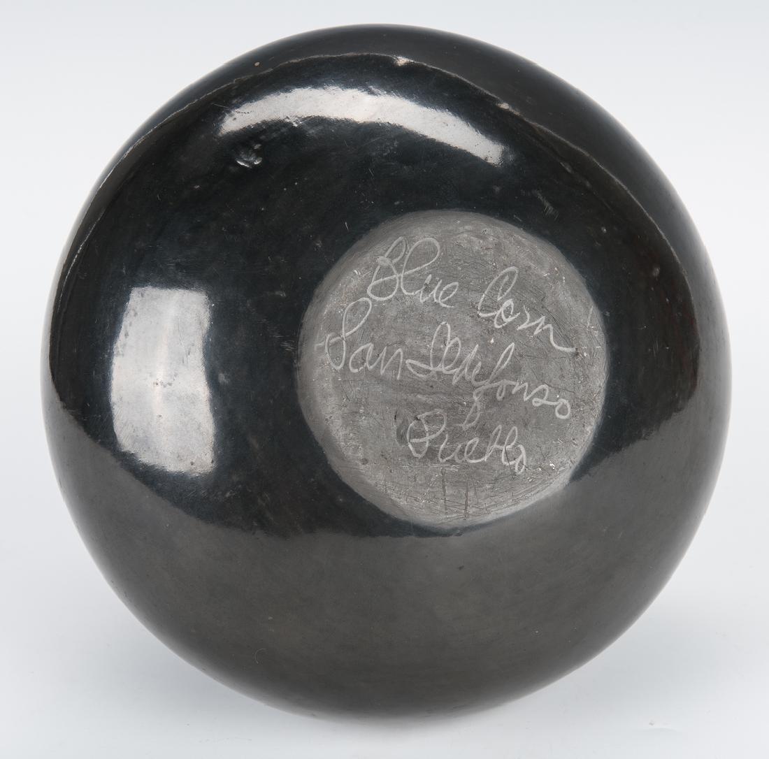 Large San Ildefonso Pottery Jar, Blue Corn - 7