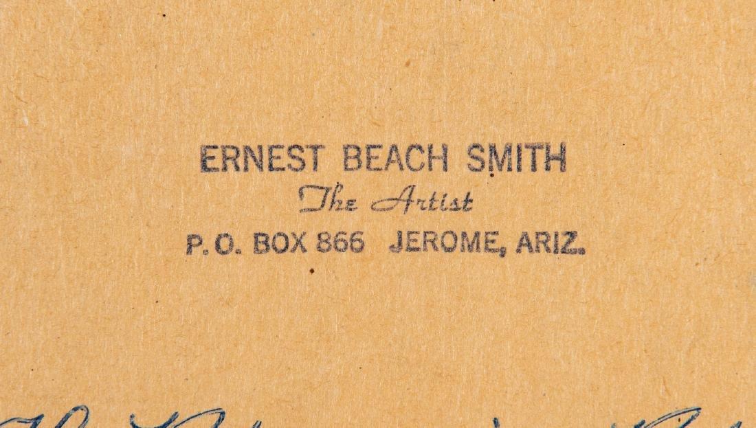 """Ernest B. Smith O/B Western Landscape """"Silence"""" - 10"""