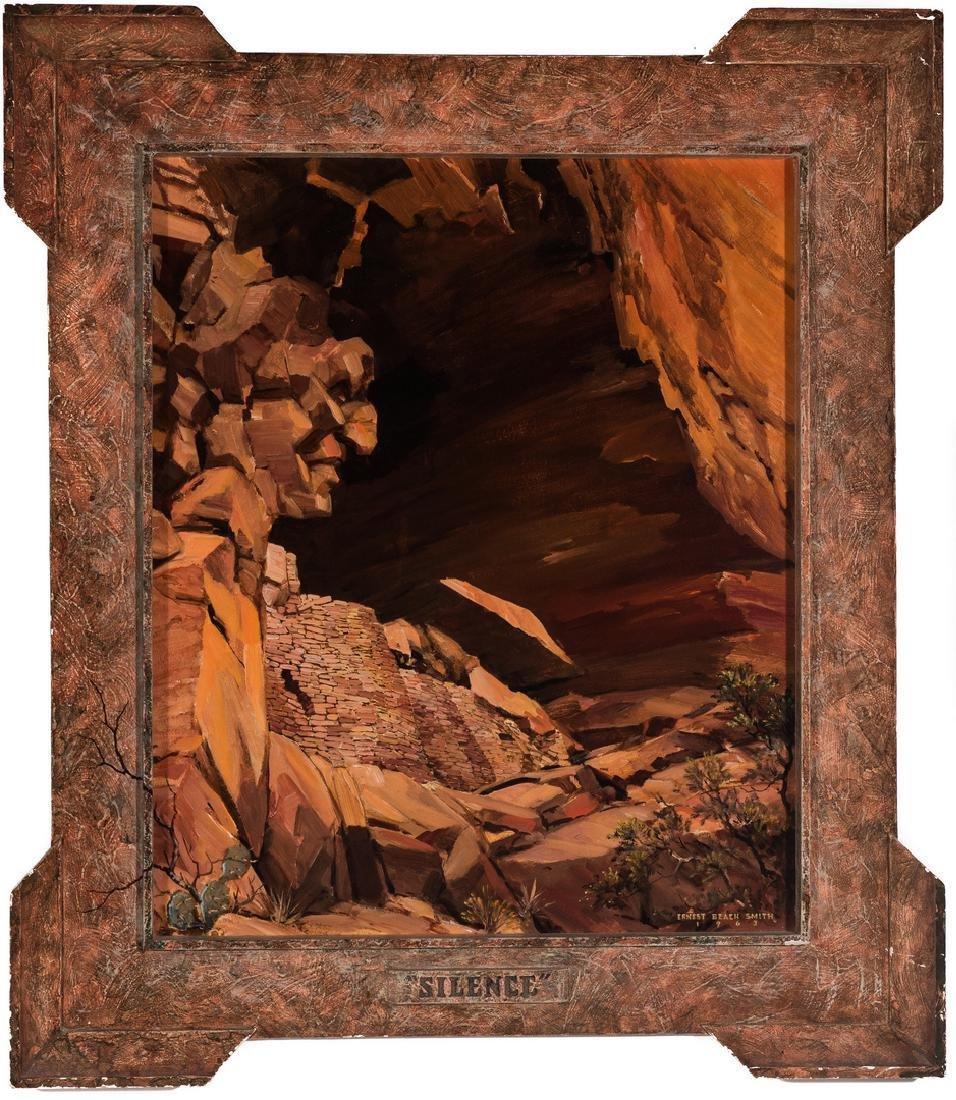 """Ernest B. Smith O/B Western Landscape """"Silence"""""""