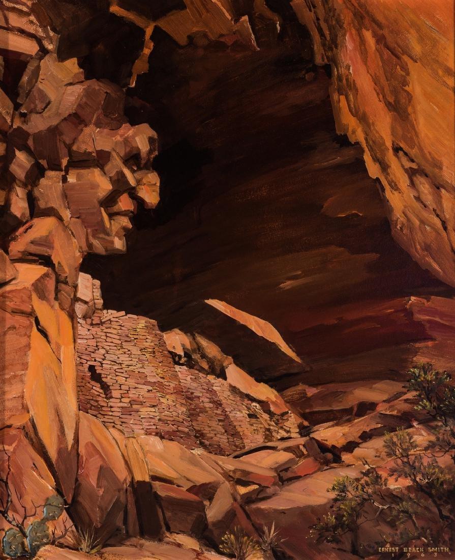 """Ernest B. Smith O/B Western Landscape """"Silence"""" - 2"""