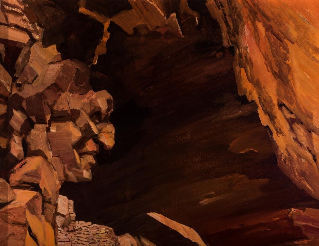 """Ernest B. Smith O/B Western Landscape """"Silence"""" - 4"""