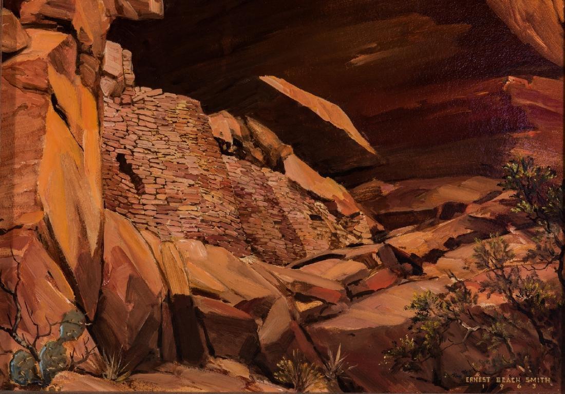"""Ernest B. Smith O/B Western Landscape """"Silence"""" - 5"""