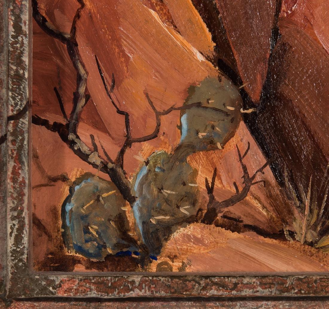 """Ernest B. Smith O/B Western Landscape """"Silence"""" - 6"""