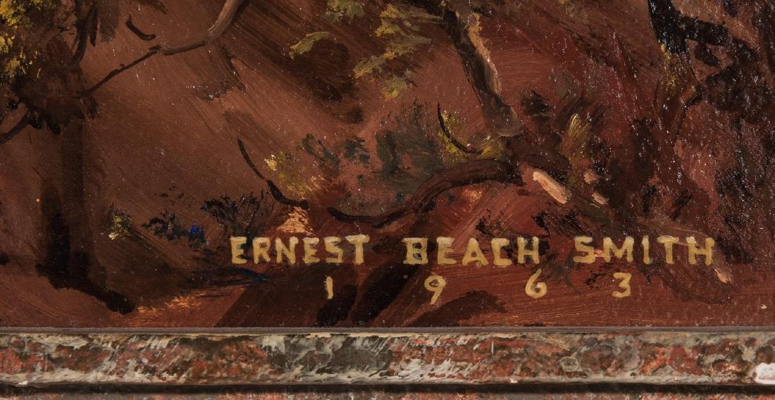 """Ernest B. Smith O/B Western Landscape """"Silence"""" - 7"""